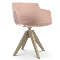 MDF Italia Flow Slim Color VN Oak stoel gebleekt