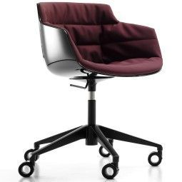 MDF Italia Flow Slim Chair gestoffeerde bureaustoel