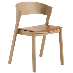 Muuto Cover Side Chair Eetkamerstoel leer