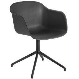 Muuto Tweedekansje - Fiber Swivel stoel zwart