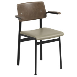 Muuto Loft gestoffeerde stoel met armleuning