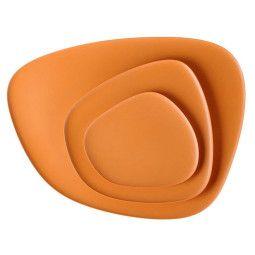 Kartell Tweedekansje - Namasté dienblad set van 3 oranje