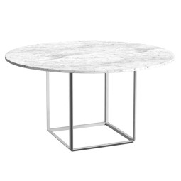 New Works Florence eettafel Ø120 White Carrera Marble
