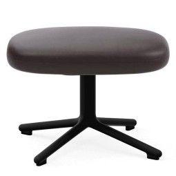 Normann Copenhagen Era Footstool Swivel voetenbank met zwart onderstel