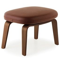 Normann Copenhagen Era Footstool voetenbank met walnoten onderstel