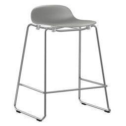 Normann Copenhagen Form Barstool stapelbare barkruk 75 cm met chroom onderstel