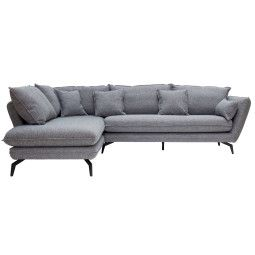 Nuuck Kvinde Sofa bank met chaise longue links Fast 125 Silver
