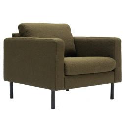 Nuuck Mette fauteuil bouclé groen