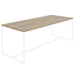 Nuuck Rectangle tafel 180x90 wit onderstel