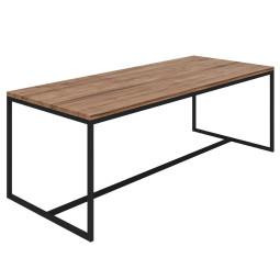 Nuuck Rectangle tafel 260x90 zwart onderstel
