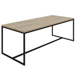 Nuuck Rectangle tafel 220x90 zwart onderstel