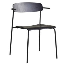 Occony Peak Chair stoel essen carbon black