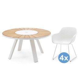 Extremis Pantagruel tuinset 146 tafel + 4 stoelen