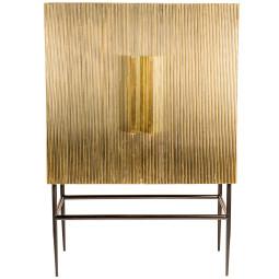 Pols Potten Cabinet ribbel gold middle kast