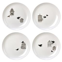 Pols Potten Freedom Birds bord set van 4