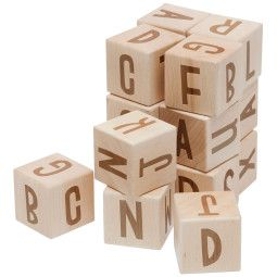 Sebra Houten Alfabet Blokken speelgoed