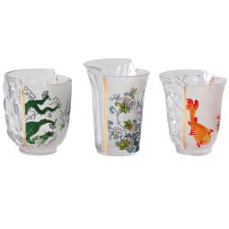 Seletti Hybrid glazen set van 3