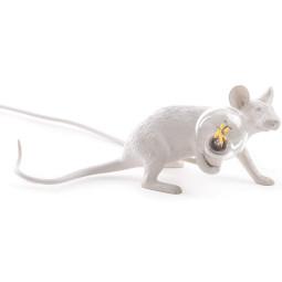 Seletti Mouse Lying Down tafellamp USB wit
