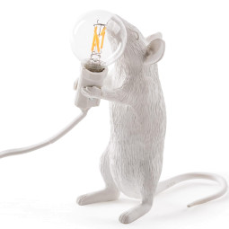 Seletti Mouse Standing tafellamp USB wit