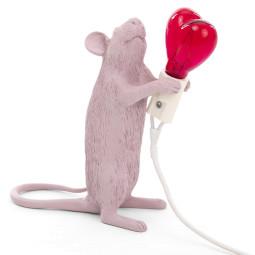 Seletti Mouse Standing Valentine's Day tafellamp USB