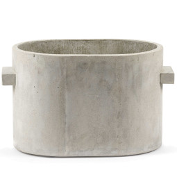 Serax Pot concrete oval plantenbak medium