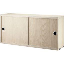 String Furniture Tweedekansje - Kast met schuifdeur 78 x 30 x 42 cm naturel essen