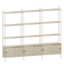 String Furniture Hoge kast large, beige