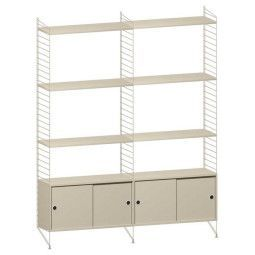 String Furniture Hoge kast medium, beige
