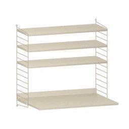String Furniture Wandkast met tafel small, beige