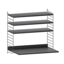 String Furniture Wandkast met tafel small, zwart