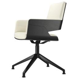 Thonet S847 bureaustoel Linea Leder 635 Latte
