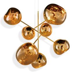 Tom Dixon Melt Chandelier hanglamp LED large goud