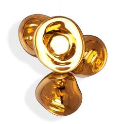 Tom Dixon Melt Chandelier hanglamp LED small goud