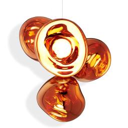 Tom Dixon Melt Chandelier hanglamp LED small koper