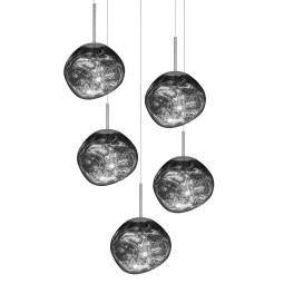 Tom Dixon Melt Mini Set Round hanglamp LED chroom