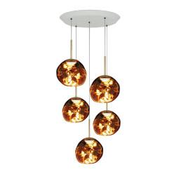 Tom Dixon Melt Mini Set Round hanglamp LED goud