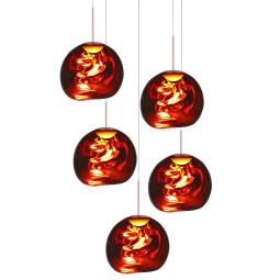 Tom Dixon Melt Mini Set Round hanglamp LED koper
