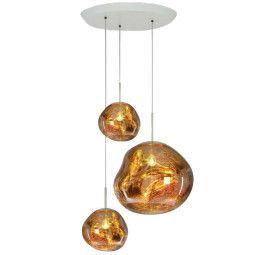 Tom Dixon Melt Trio Round hanglamp goud