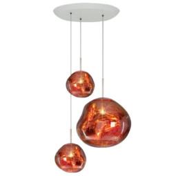 Tom Dixon Melt Trio Round hanglamp koper