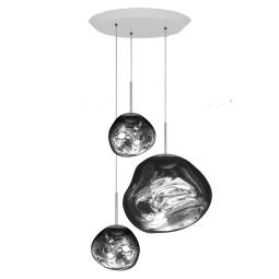 Tom Dixon Melt Trio Round hanglamp LED chroom