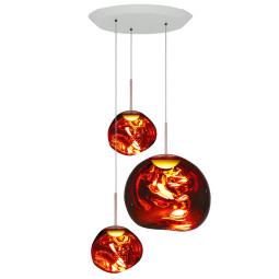 Tom Dixon Melt Trio Round hanglamp LED koper
