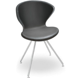 Tonon Tweedekansje - Concept stoel met roestvrij stalen onderstel donkergrijs
