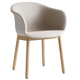 &tradition Elefy JH31 gestoffeerde stoel met eiken onderstel