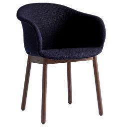 &tradition Elefy JH31 gestoffeerde stoel met walnoten onderstel