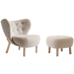 &tradition Little petra & pouf eiken onderstel
