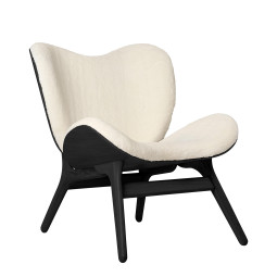 Umage A Conversation Piece Low fauteuil zwart eiken