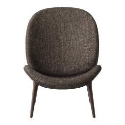 VIPP Vipp466 Lodge fauteuil, dark oak onderstel