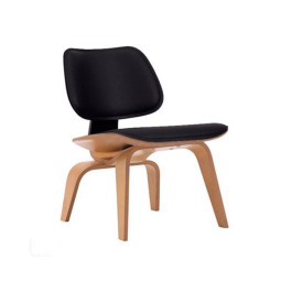Vitra Eames LCW leather loungestoel