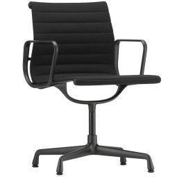 Vitra Aluminium Chair EA 104, zwart aluminium onderstel