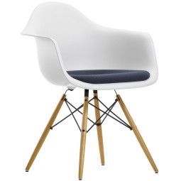 Vitra Eames DAW stoel met zitkussen
